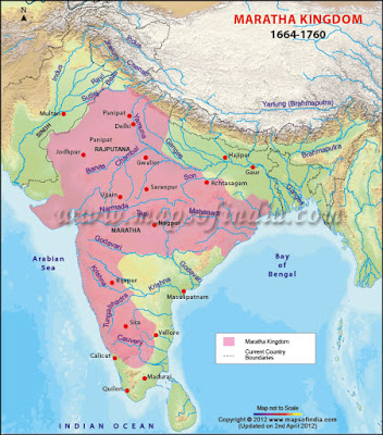 maratha kingdom map